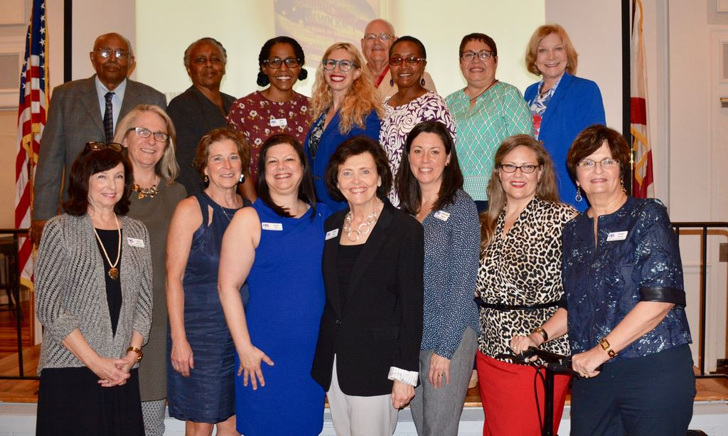 League of Women Voters Orange County held its annual meeting April 18,2019 elected new officers & board members,including Co-Pres. Gloria Pickar & Sandi Vidal, & honored Leesa Bainbridge, past co-pres
