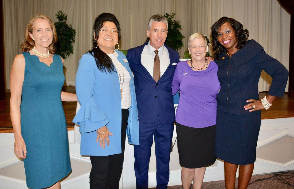 August Hot topics explored how Central Florida is affected by lack of affordable housing.Moderator Jim Payne of WESH2.Panelists:Orange County Commissioner Mayra Uribe; Roberta Walton; & Traies Roe.