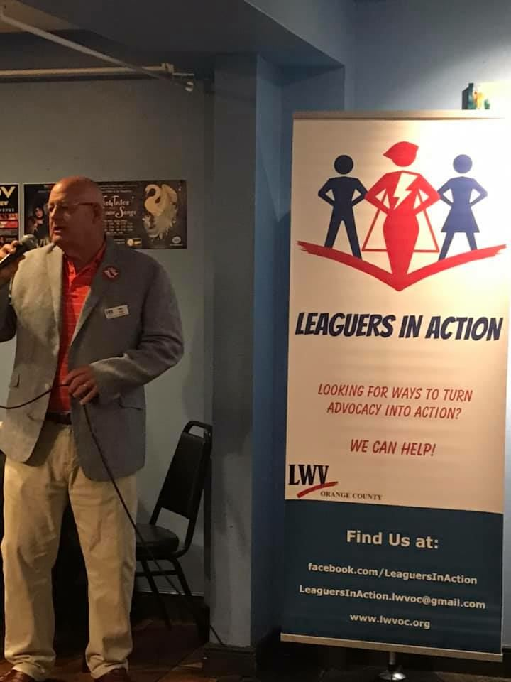Leaguers in Action address Gun Safety