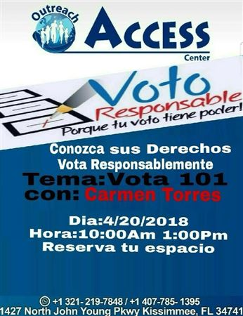 Voter Educ at Outreach Access Ctr
