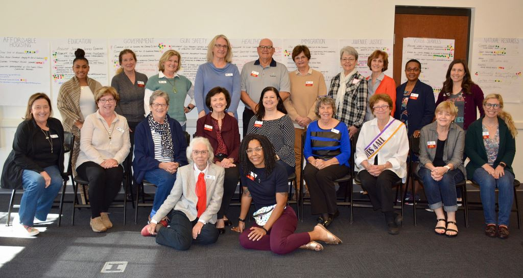 The annual planning meeting Jan. 25, 2020 for League of Women Voters Orange County. Leaders and committee heads presented their past year's work & future goals and received priorities from members.