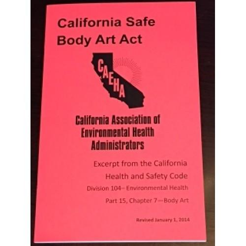 2014 California Safe Body Art Act Booklet
