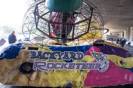 "Photos taken during the final construction of the 2017 entry ""Backyard Rocketeer"""