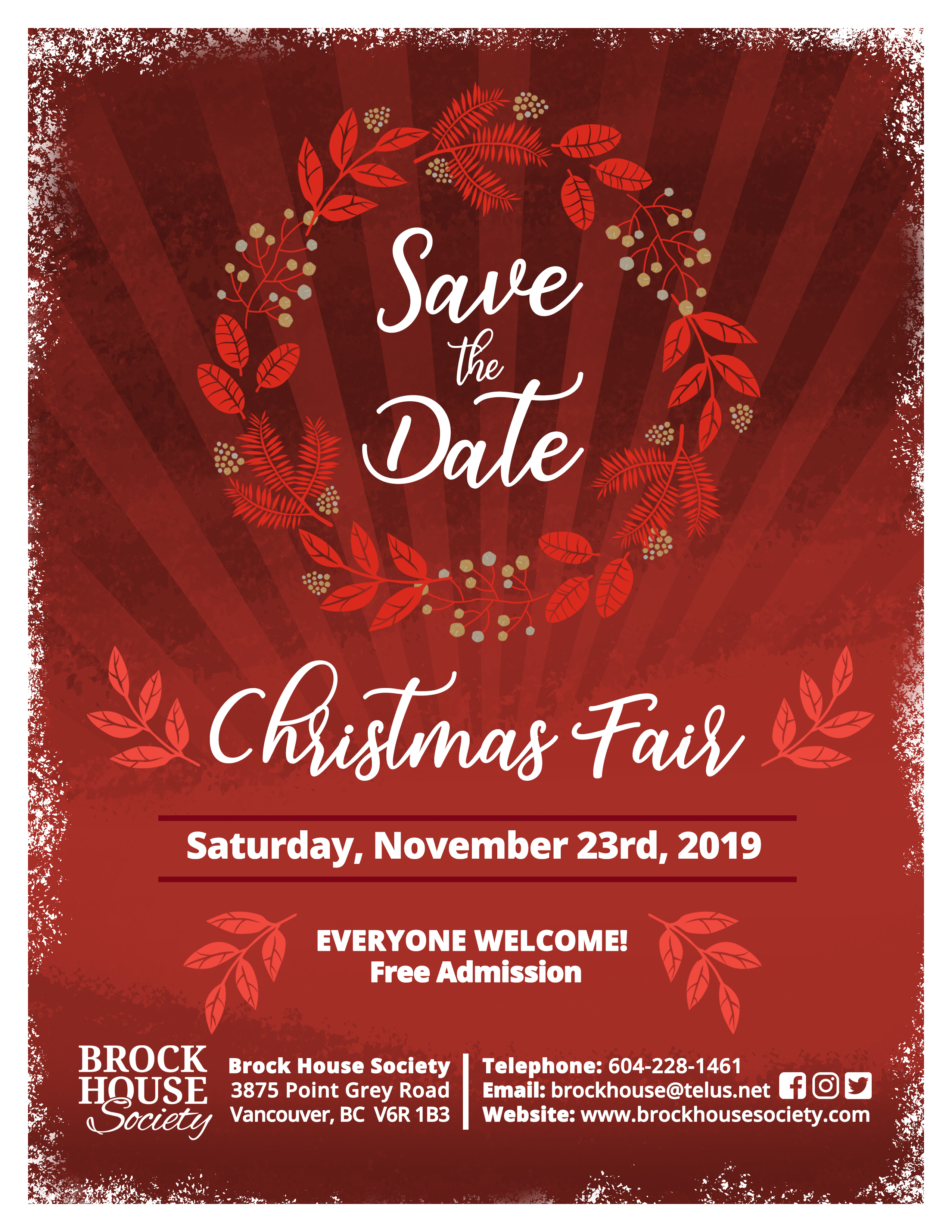 Christmas Graphics 2019.2019 Christmas Fair Events Brock House Society