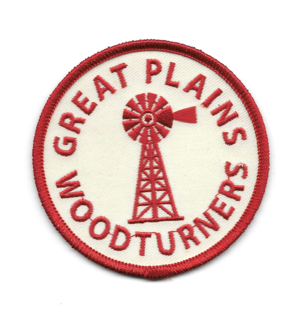 3x3 iron on Great Plains Woodturners patch