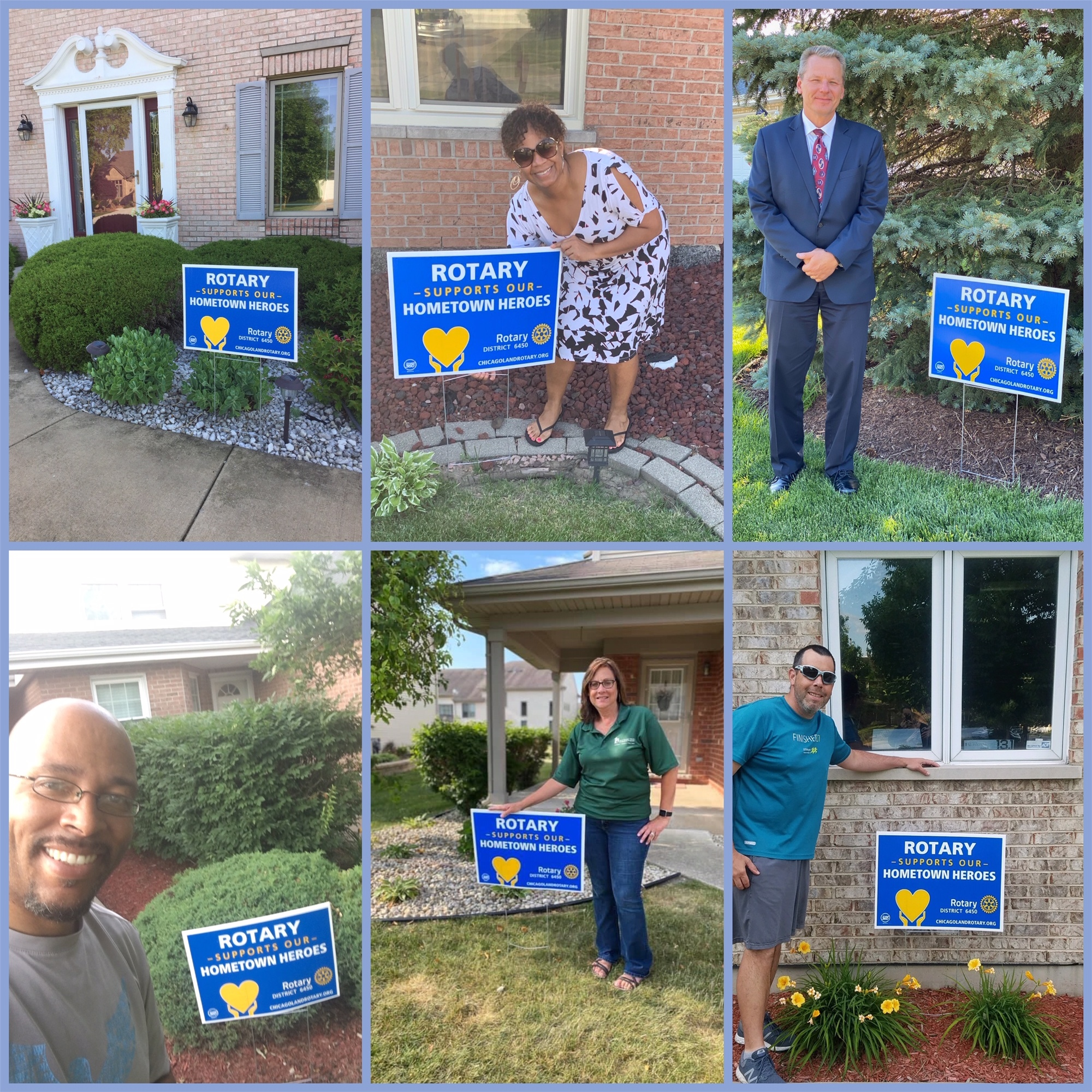 Hometown Heroes Yard Sign Photos