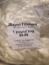 Rayon filament - click to view details