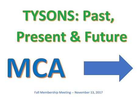Photos from MCA Membership meetings and events