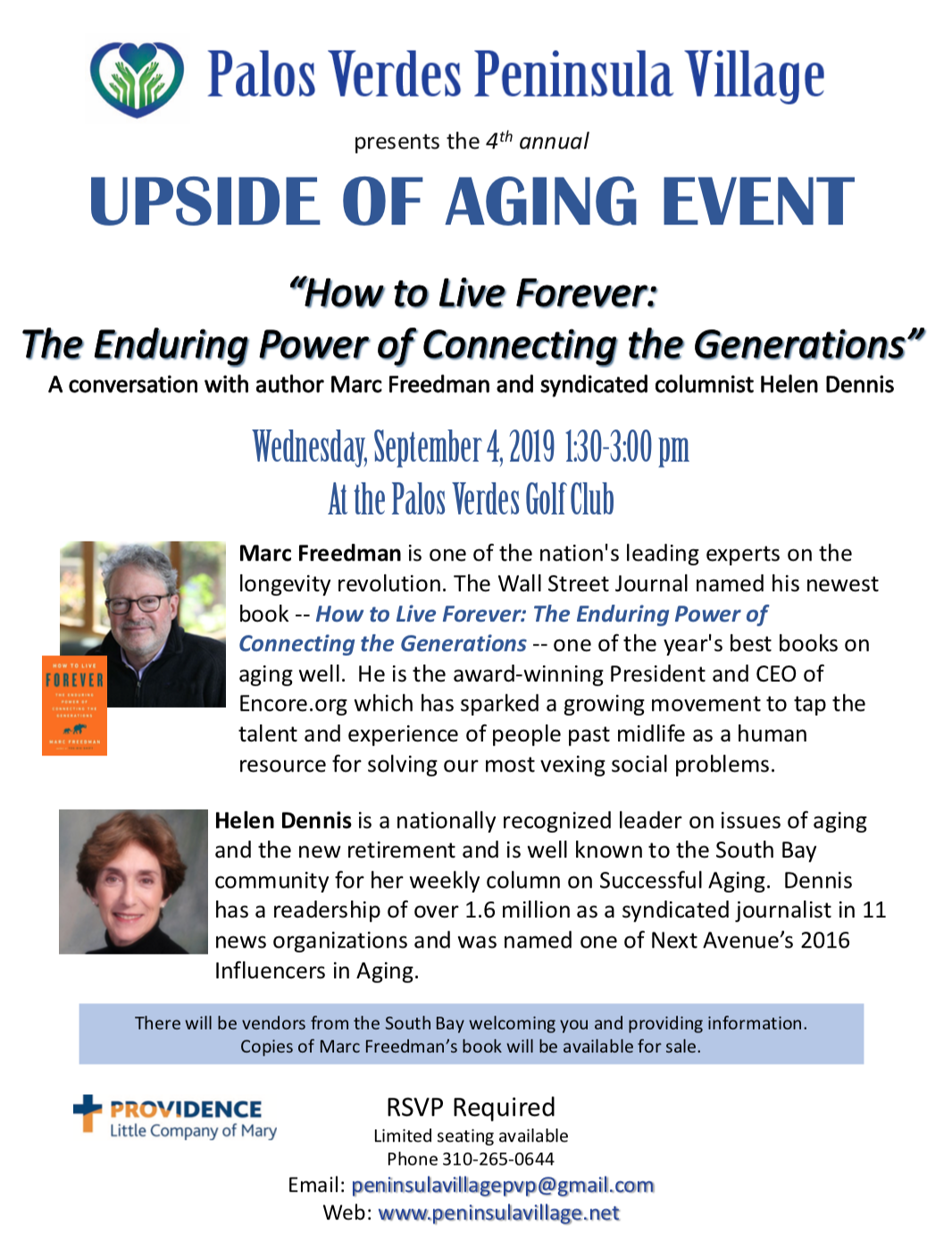 Upside of Aging flyer 2019