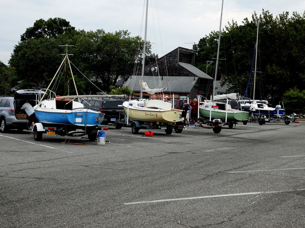 Various photos from the 2020 Mariner Rendezvous. Niantic, CT to Crockers Boatyard, New London