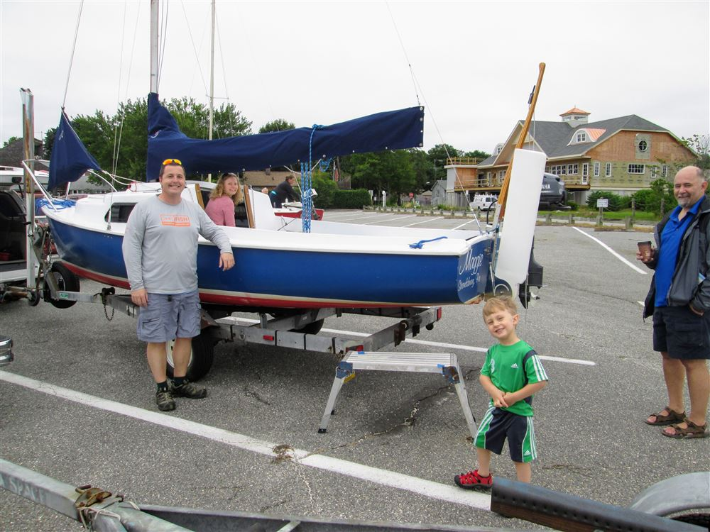 A group of of eight boats and 14 sailors journeyed from Niantic, CT to Essex for a three-day, mid-week event. This was the Mariner Class Association's official Rendezvous for 2017.