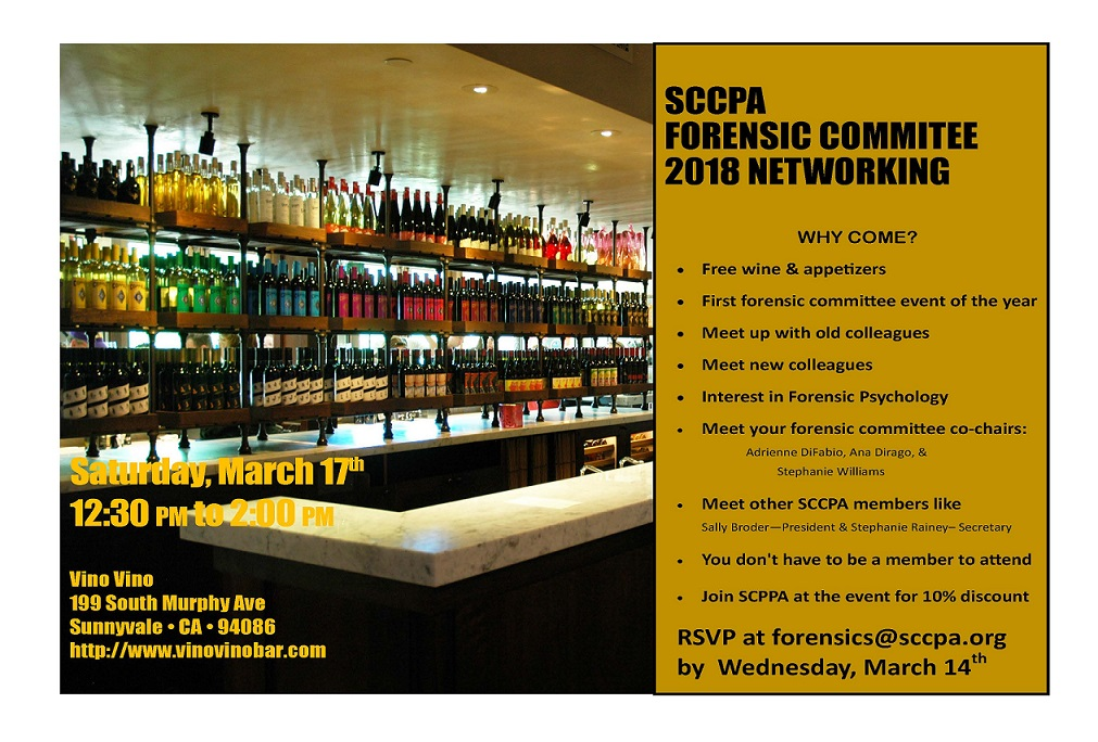 SCCPA Forensic Committee 2018 Networking - Events - Santa