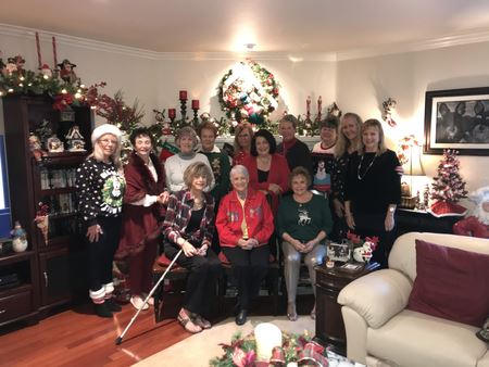 President Karen shared her festive, magical Christmas Home for our 2019 Christmas Breakfast and Gift exchange.