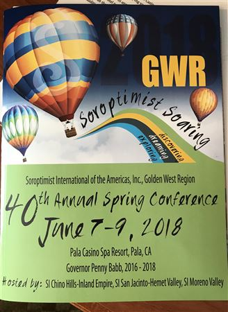 Golden West Region Spring Conference.  June 7-9,2018Pala Casino Spa Resort, Pala, CA