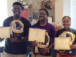 Washington DC Metro Area students attending Alcorn State University received scholarships from the Washington DC Metro Area Alumni Chapter.