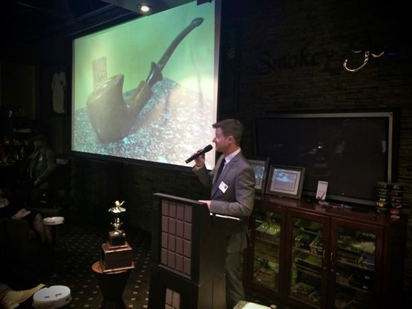 Our 15th Annual Dinner was held on 1/30/2016.  Our guest speaker was pipemaker, Jeff Gracik.