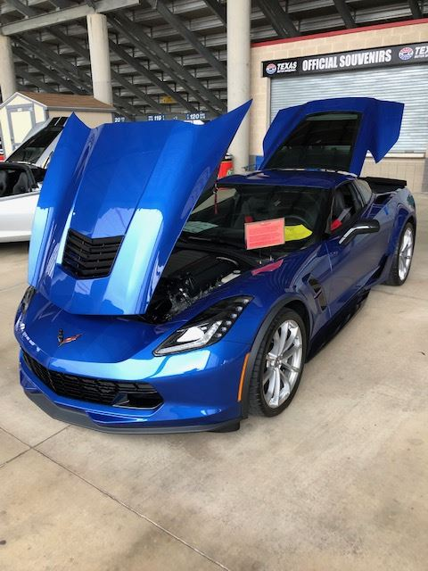 2019 Elkhart Lake Blue Metallic Grand Sport. Our 5th Corvette bought new out of 21 owned over the years.