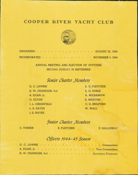 75 years of Cooper River Yacht Club in pictures