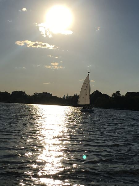 No better place to watch a sunset than from the deck of a sailboat or the deck at CRYC!
