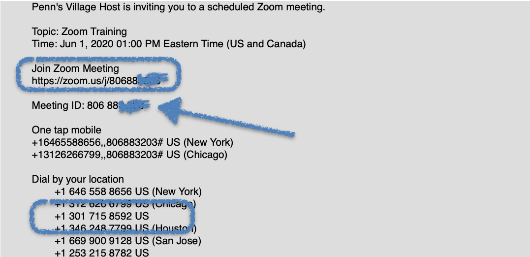 Zoom Email Invite