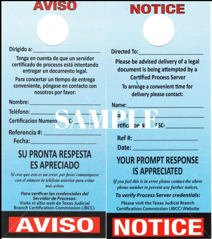 English/Spanish Door Hangers - 100 Count