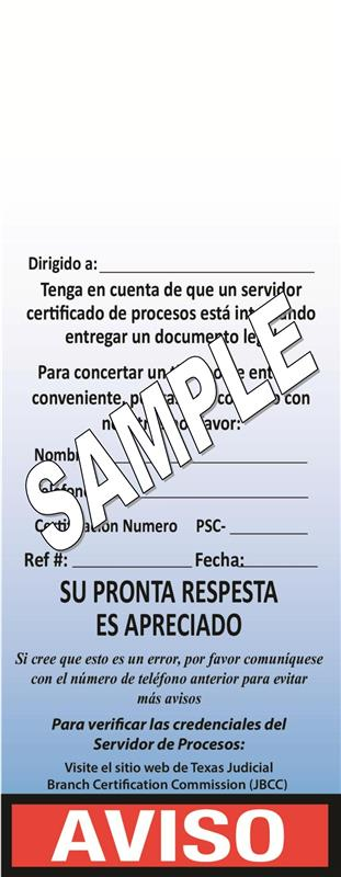 Spanish Door Hangers - 100 Count