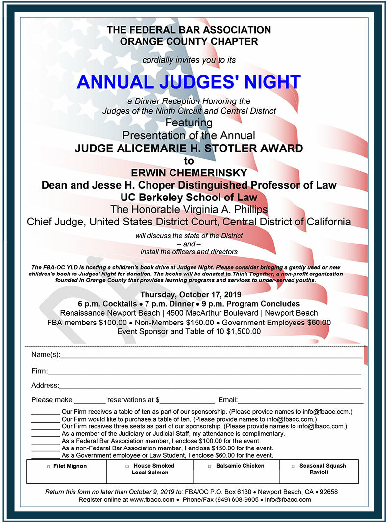 Annual Judges' Night Flyer