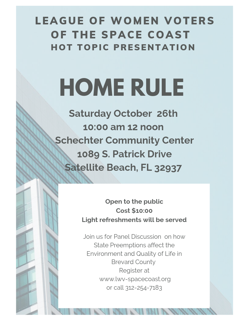 October Timely Topic on Home Rule
