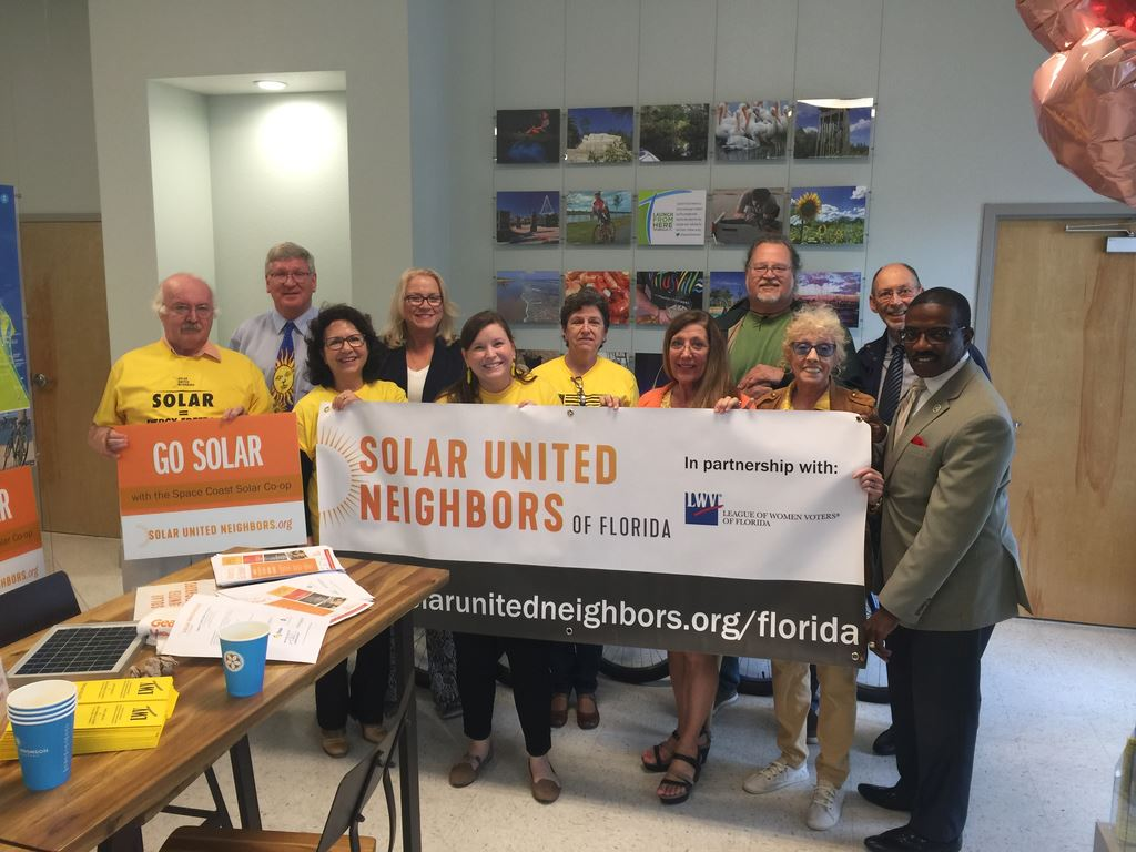 Florida Solar United Neighbors kickoff and information sessions