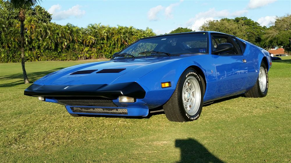 1974 Detomaso Pantera L, now with electric steering.