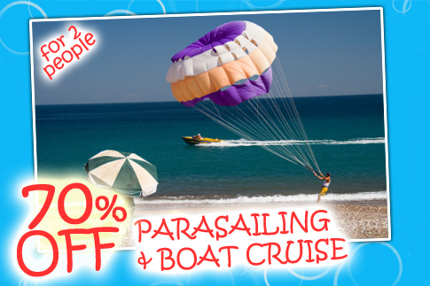 70% off Parasailing & 90minute Boat Cruise fo