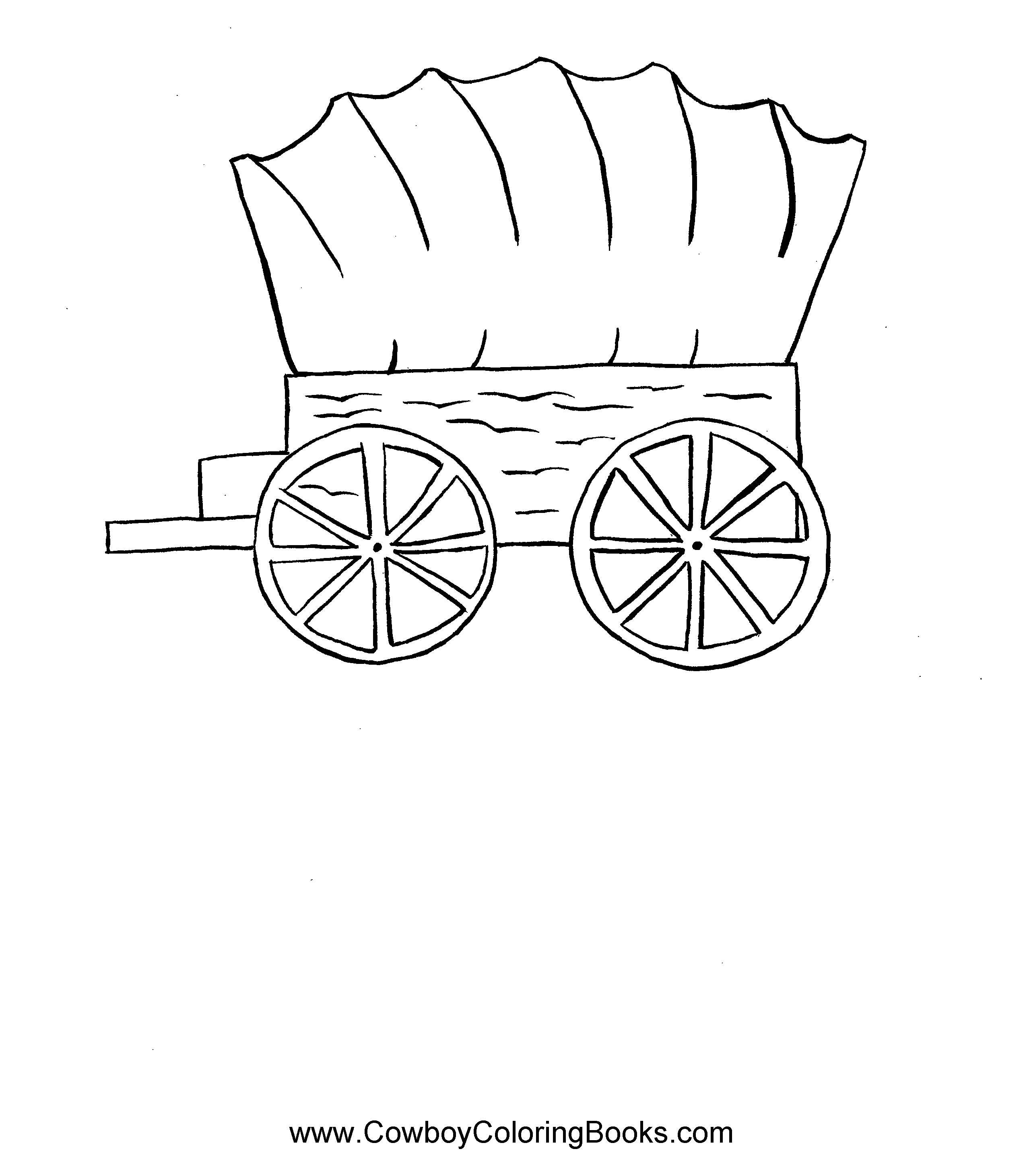 wagon trains coloring pages - photo#46