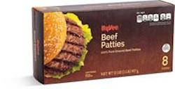 Hy-Vee Frozen Beef Patties