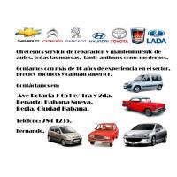 Se realizan mantenimiento y reparación de autos de todas las marcas. tanto antiguos como modernos.