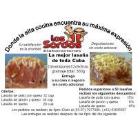 Elaboraciones los sordos pone a su disposición la mejor lasagna de toda Cuba