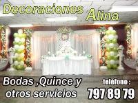 Decoraciones Alina(bodas, quince y otros eventos sociales)