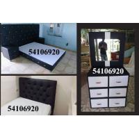 La mejor opción en muebles para su cuarto, cama, gavetero, baúl, pie de cama.