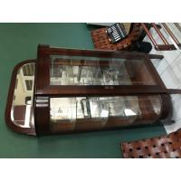 Vitrina antigua de madera cristal y espejo