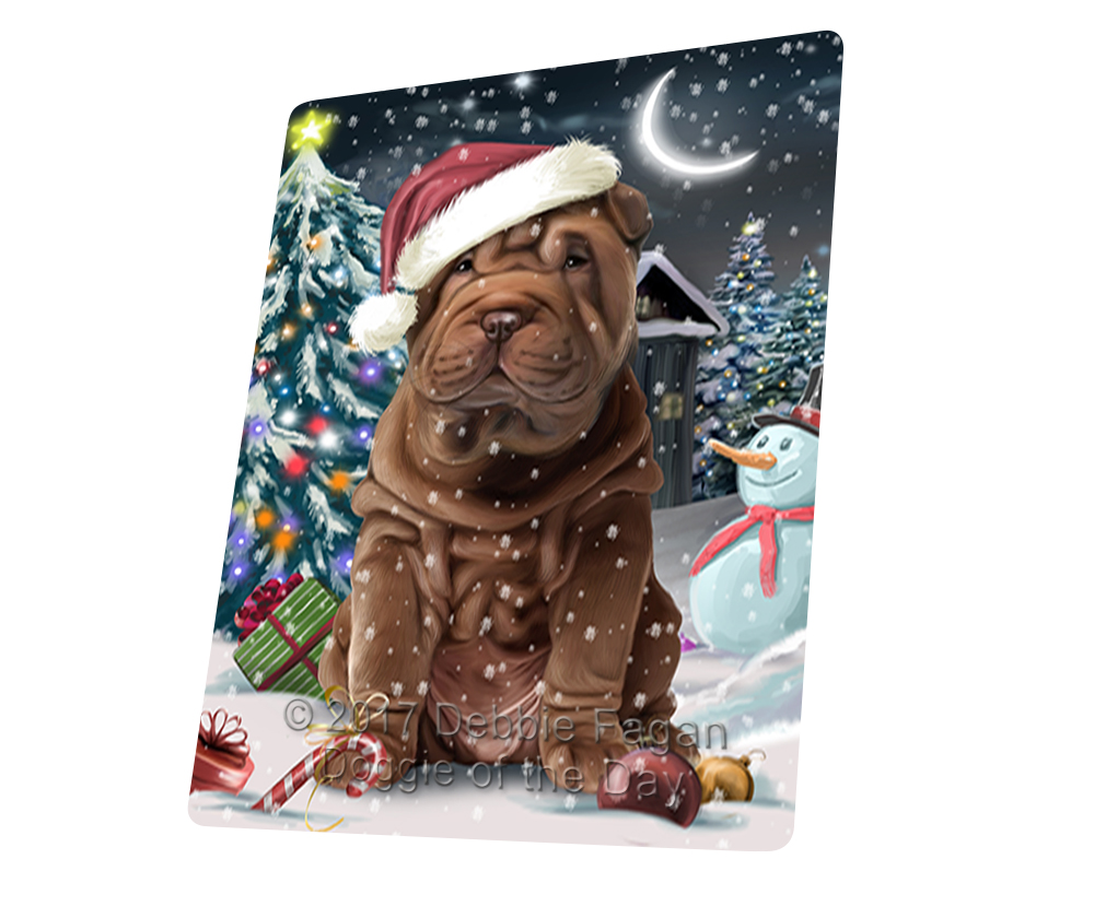 "Holly Jolly Christmas SharPei Dog Magnet Small 5.5"" x 4.25"" MG3577"