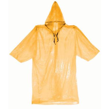 Rain Gear Raincoat Lightweight Poncho Outdoor Emergency Weather - Orange