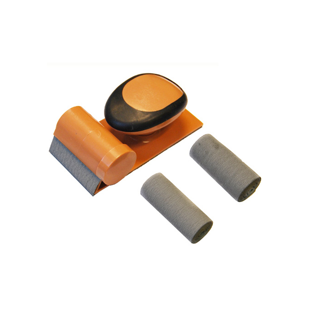 Palm Hand Sander Block 3 Rolls of Fine/Coarse Sand Paper