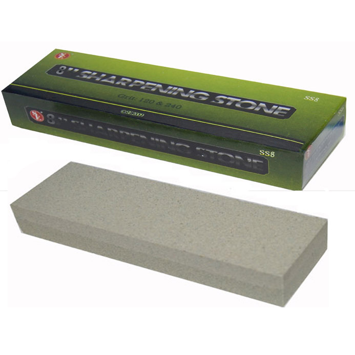 "SE SS8 8"" Dual Grit Sharpening Stone"