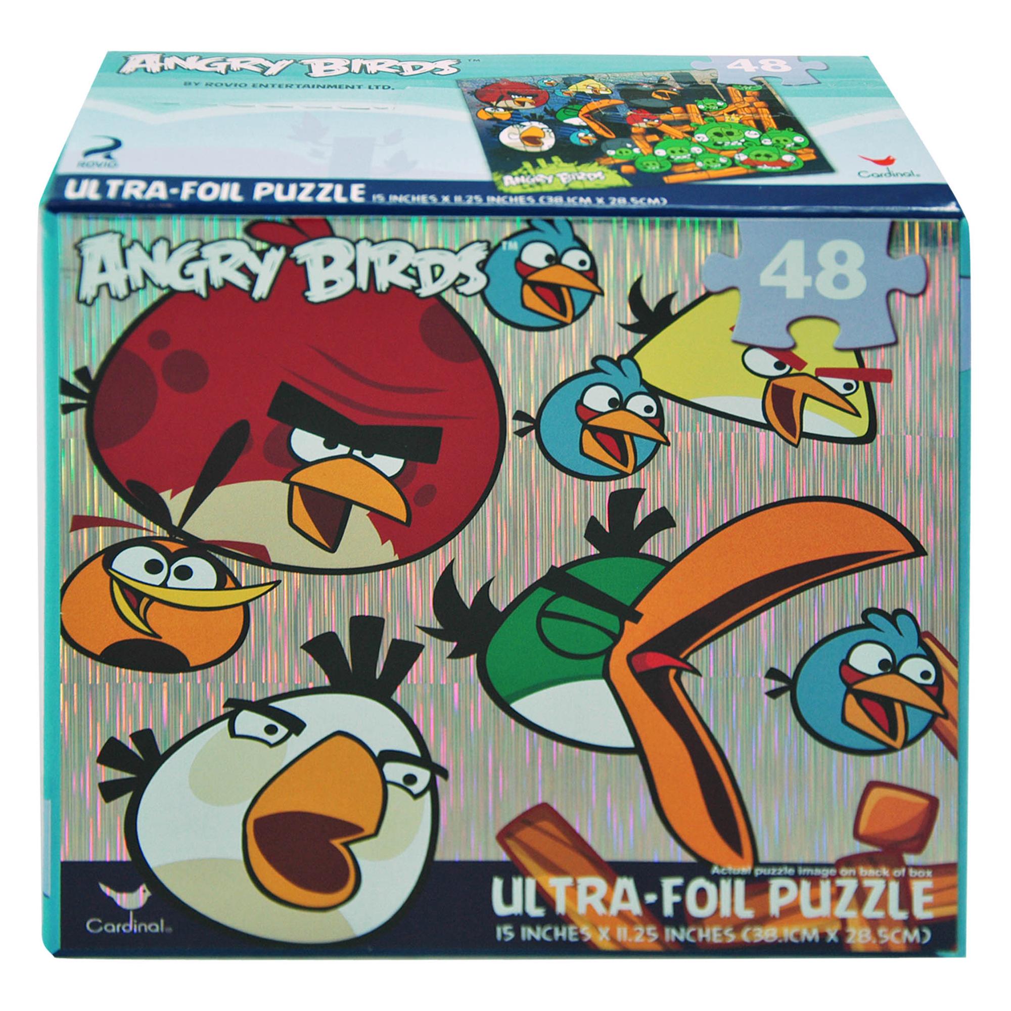 Rovio Angry Birds Puzzle Ultra Shiny Foil Kids Jigsaw 48pc