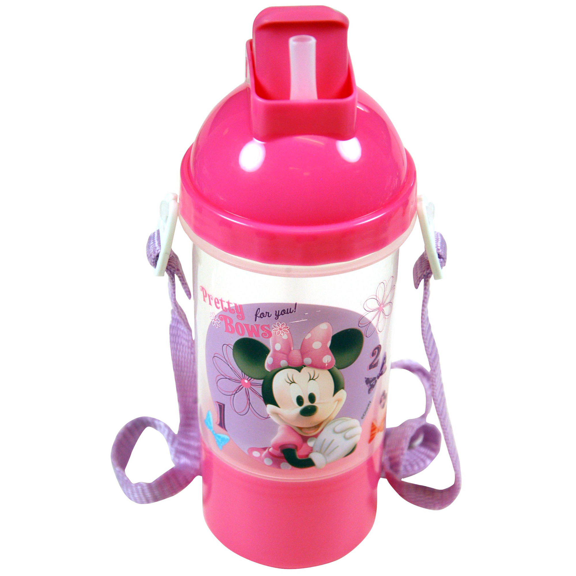 12oz Disney Minnie Mouse Bowtique Rock N Sip Snack Canteen