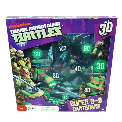 Teenage Mutant Ninja Turtles Super 3D Dart Board with Magnetic Darts & Stands