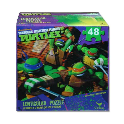 "TMNT Teenage Mutant Ninja Turtles ""Bring It On"" 3D Lenticular Jigsaw Puzzle"