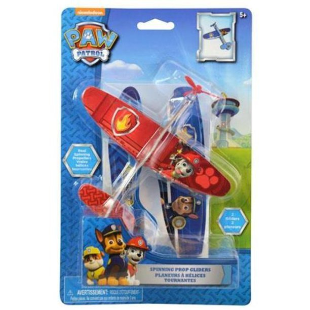 Paw Patrol Spinning Prop Gliders One Red Glider and One Blue