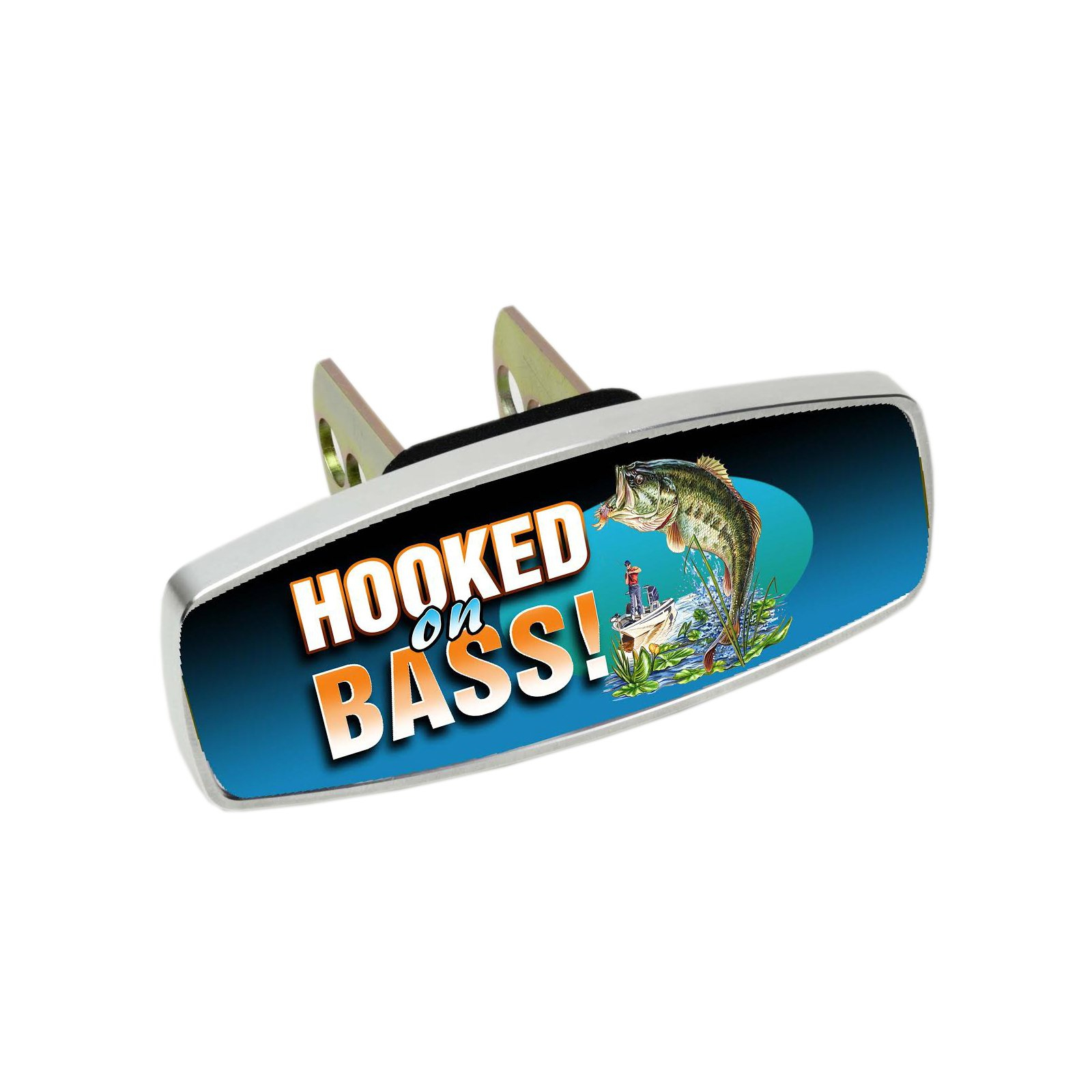 HitchMate Premier Series Hitch Cap Cover - Hooked on Bass