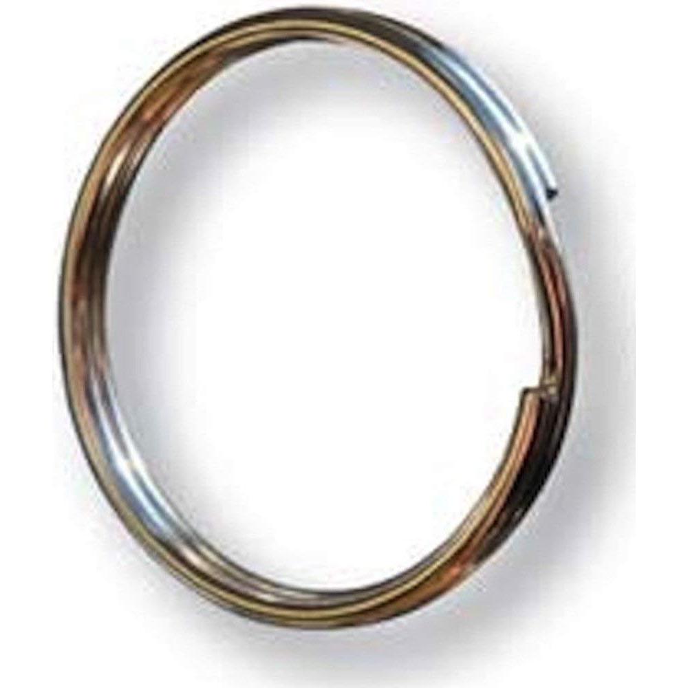 Zak Tool ZT34 1.5 inch Steel Key Ring - 25 Pack Silver
