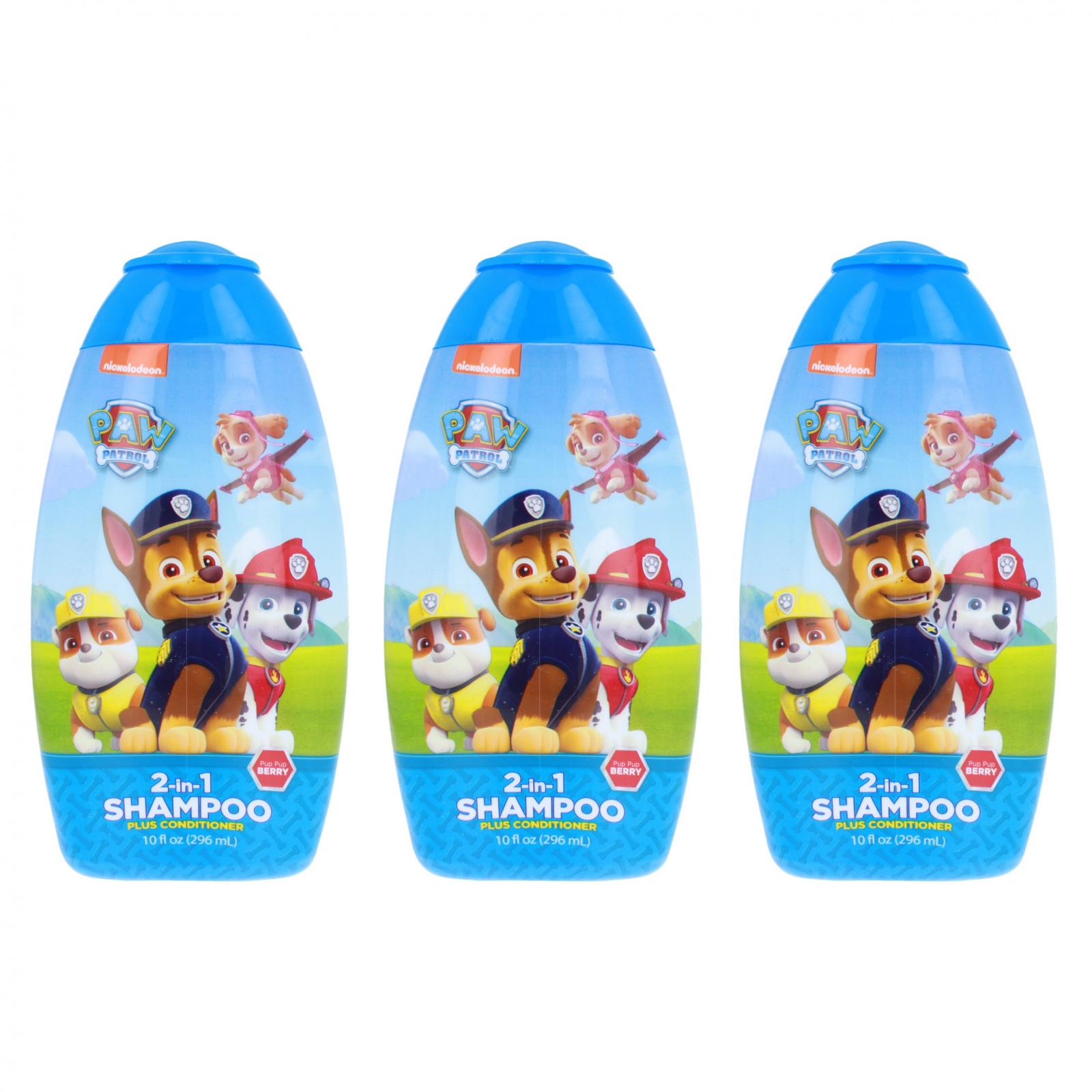 Paw Patrol Childrens 2 in 1 Shampoo Conditioner 10oz 3pk